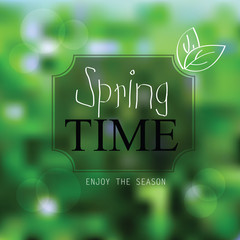Vector spring landscape background
