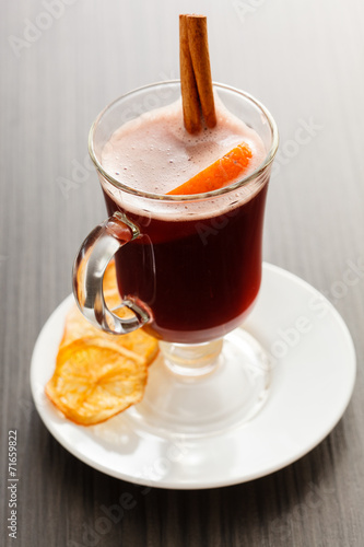 canvas print picture mulled wine