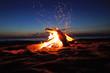 Leinwanddruck Bild - Campfire ready for marshmallows