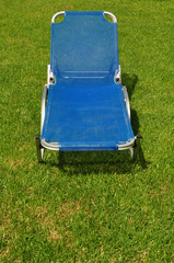 reclining lawn chair