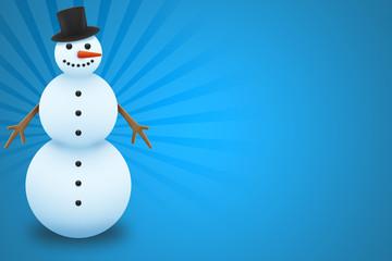 Pupazzo di neve cartolina