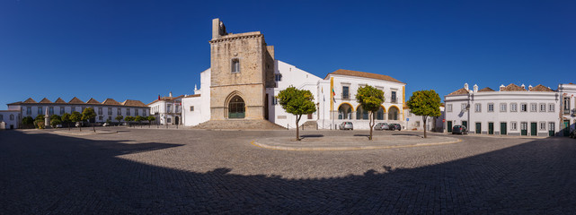 "Street view of old downtown Faro - Capital of Algarve -""Se""Cathe"