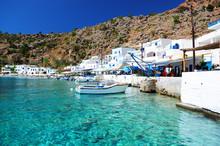 Greckie wybrzeża wioska na południu Krety Loutro