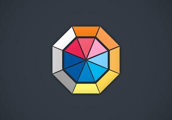 geometry shape colorful vector logo