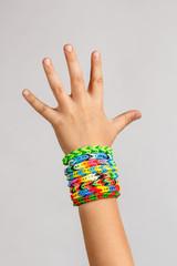 Loom band rubber bracelets