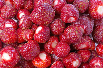 Sweet ripe cleaned strawberries.