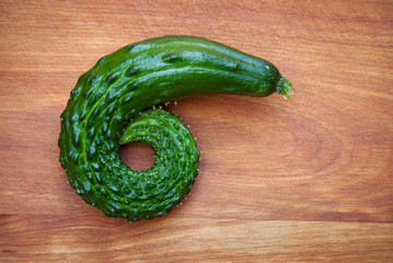Curled Cucumber