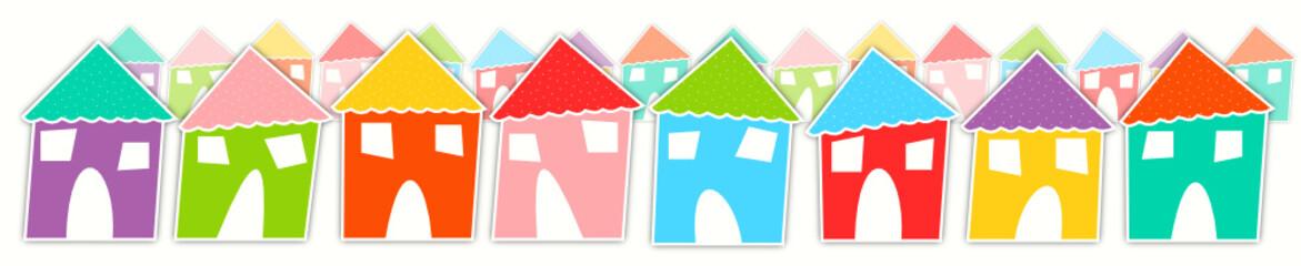 Maisons multicolores