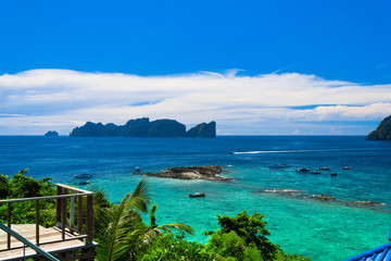 High Cliff Idyllic Island