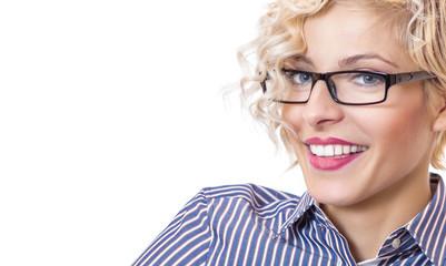 Close-up laughing happy schoolteacher - teacher