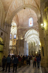 Interior of Cathedral  of Saint Mary in Murcia