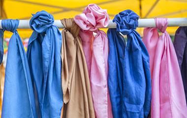 Series of silk pashminas