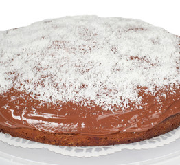 Cake with chocolate and coconut