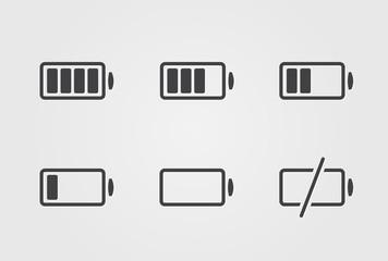 Vector black battery icon