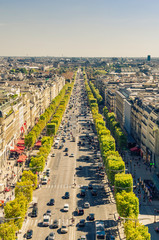 Champs Elysees boulevard