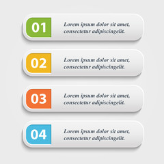 Vector  realistic Web buttons,banner,infographic
