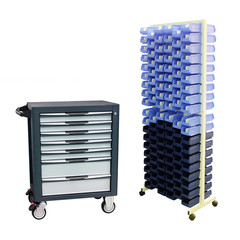 tool boxes on the mobile stand