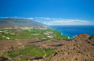 La Palma, view from viewpoint Mirador el Time