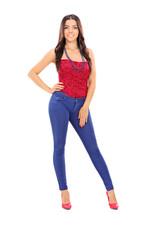 Fashionable young woman posing