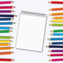 Blocco e matite