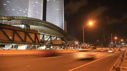 Azrieli Center. road traffic