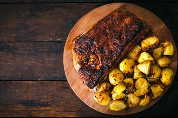 Potatoe and ribs