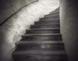 Leinwanddruck Bild - staircase with spooky light