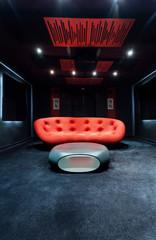 Dark modern interior
