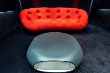 Modern furniture in luxury apartment