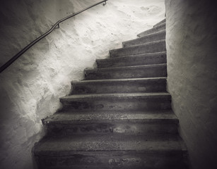 staircase with spooky light