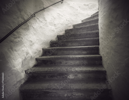 Foto op Aluminium Trappen staircase with spooky light