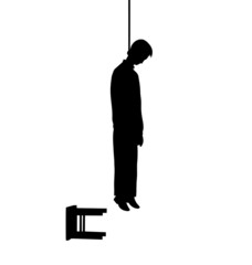 hanged man silhouette