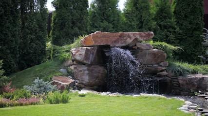 Waterfall and landscape garden design