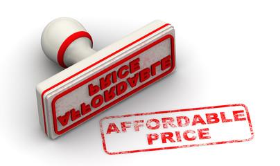 Доступная цена (Affordable price). Печать и оттиск