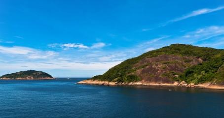 Rocky Islands in Atlantic Ocean near Rio de Janeiro, Brazil