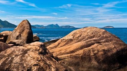 Rocks in the Coast of Rio de Janeiro