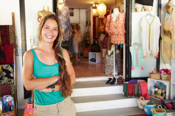 Portrait Of Female Clothing Shop Owner