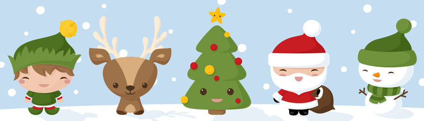 Kawaii Christmas Icons