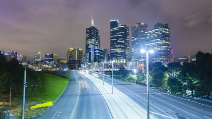 Hyperlapse video of Melbourne CBD