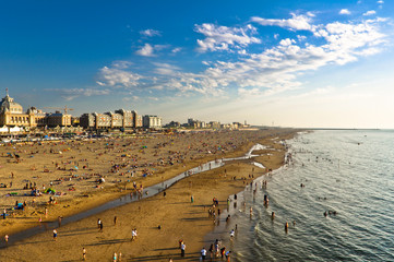 The Beach by Sunset in Scheveningen in The Hague