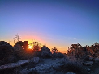 Mountain Sunrise along hiking trail Outdoor Nature