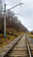 Fall, rails, cross ties, columns, wires