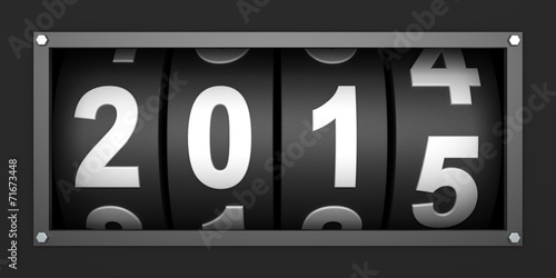 canvas print picture 2015 New year countdown timer