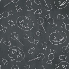 Seamless Chalk Halloween Texture
