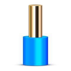Vector illustration of blue nail polish