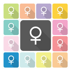Female Icon color set vector illustration