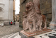 marble lion at Basilica of Santa Maria Maggiore, Bergamo