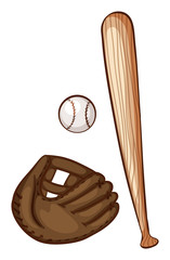 A simple sketch of the baseball materials