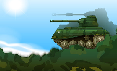 A fighting tank