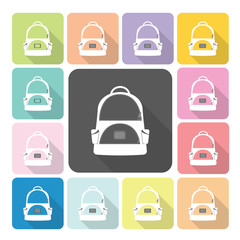 Bag Icon color set vector illustration